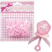 Декоративное украшение: фигурка Погремушка розовая 6,5см фото