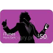 Пополнение счета iTunes Gift Card $50 USA фото