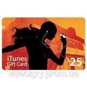 Пополнение счета iTunes Gift Card $25 USA фото
