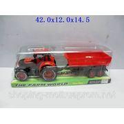 Трактор с прицепом фото
