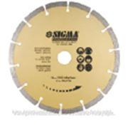 Круг отрезной алмазный сегментированный SIGMA (1922071) Диаметр круга: 230, Посадочный размер: 22.23, Ширина диска: 2.6, Скорость вращения: 6600, Тип фото