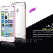 Чехол I-Smile for iPhone 6 iDelighte Aluminum Bumper Gold (IPH1003-GO), код 67076 фото