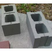 Камень стеновой (шлакоблок) фото