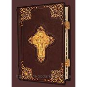Библия с комментариями, филигранью, гранатами, золото фото