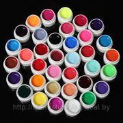 36 цветов Прозрачный УФ гель для ногтей. фото