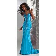 Голубое платье на выпускной. фото