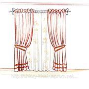 Эскиз шторы в детскую фото