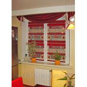 Гардина и шторы на кухню. фото