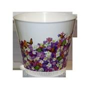 Горшок для цветов из пластика Крит Сирень фото