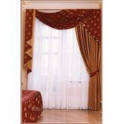 Пошив на заказ, тюли и гардины, гардини у вітальню, пошив штор и гардин, гардина белая фото