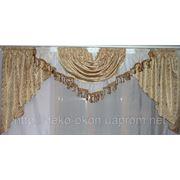 Ламбрекены из шторной ткани фото
