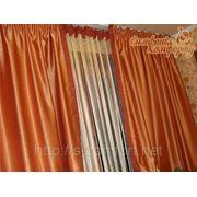 Нитяная штора с портьерами фото