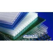 Поликарбонат сотовый PLASTILUX 10 мм (прозрачный) фото