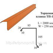 Торцевая планка ТП-1 Zn 0,45 мм фото