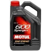 Моторное масло MOTUL 6100 Synergie + 4Л полусинтетика фото