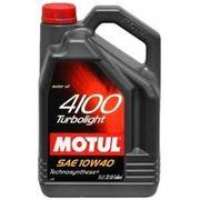 Моторное масло MOTUL 4100 Turbolight 5л, полусинтетика фото