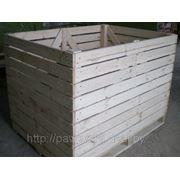 Деревянный контейнер для хранения и транспортировки картофеля, ёмкостью - 1000 кг. фото