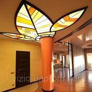 Изготовление и продажа витражных потолков фото