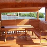 Изготовление мебели из дерева для беседок фото