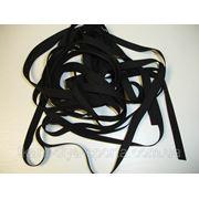 Резинка латексная для купальников черная (6 х 0,6 мм) фото
