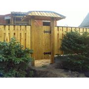 Ворота калитки заборы из сосны и дуба фото