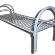 Кровать с металлическими спинками фото