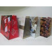 """Пакет подарочный горизонтальный """" абстракция, цветы"""" 32 х 26 х 13 см, 12 шт/уп фото"""