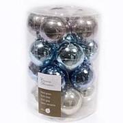 """Набор стеклянных шаров коллекция """"Морозная Зима"""", 60 мм, 20 шт (Kaemingk) фото"""