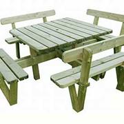Садовая мебель из импрегнированной сосны фото