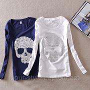 Женская кофточка с черепом фото