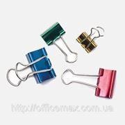 Биндеры 25 мм, неоновые цвета, в пластиковой драме (за 48 шт.) фото