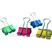 Биндеры цветные 15 мм, 60 шт набор фото