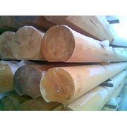 Оцилиндрованное бревно с пазом (лиственница сибирская) фото