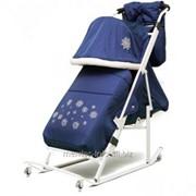 Санки-коляска Kristy Luxe Exclusive Синий фото