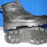 Ботинки кожанные на шнурках фото