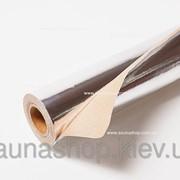 Фольгированная, алюминиевая бумага для бани и сауны 30 м.кв., 0,13мм. фото