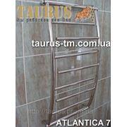 Удобный полотенцесушитель Atlantica 7/ 500 из нержавеющей стали в ванную комнату фото