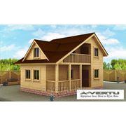 Каркасный дом. Проект №11 (6х8 с террасой) фото