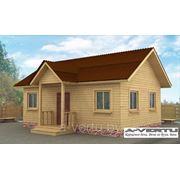 Каркасный дом. Проект №15 (6х8 м с крыльцом) фото