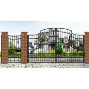 Ворота, ворота откатные, ворота распашные, ворота садовые, изготовление ворот металлических на заказ фото
