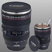 Термо чашка в виде объектива Canon EF 24-105mm фото