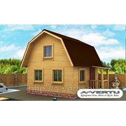 Каркасный дом, Проект №2 (5х5 м, с крыльцом) фото