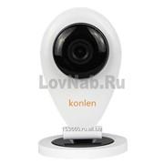 Цветная IP видеокамера с Wi-Fi P2P HD 1280x720 1MP (SD карта, Микрофон, Динамик) Konlen KL-P516W фото