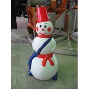 Снеговик пластиковый фото