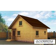 Каркасный дом, Проект №9 (7х6 с крыльцом) фото