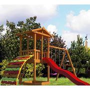 Детский гровой комплекс китеж с модулем мостик фото