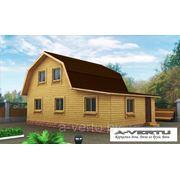Каркасный дом. Проект №13 (6х9 м с крыльцом) фото
