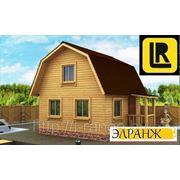 Проект каркасного дома (4х6 с террасой) фото