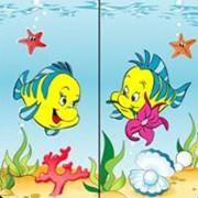 """Салфетки цветные Дуэт """"Рыбки"""" фото"""