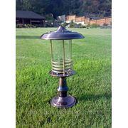 Ландшафтный светильник медный фото